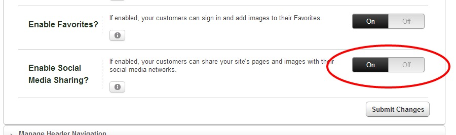 enable social media sharing