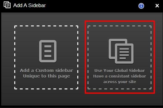 global sidebar