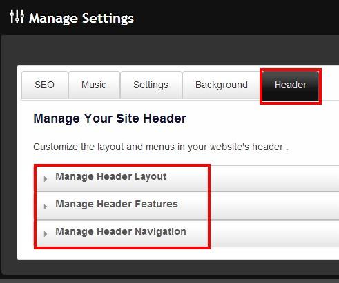 manage header
