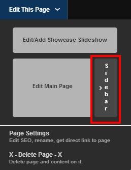 sidebar editor