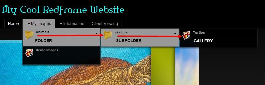 site folder sub gallery
