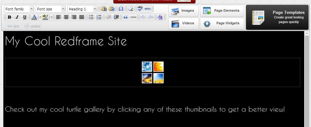 widget page view