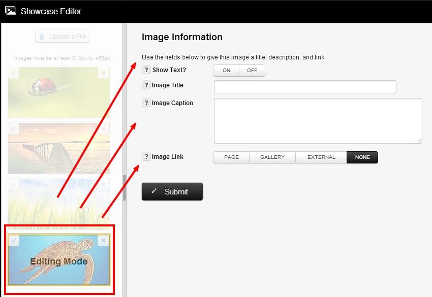 showcase edit image