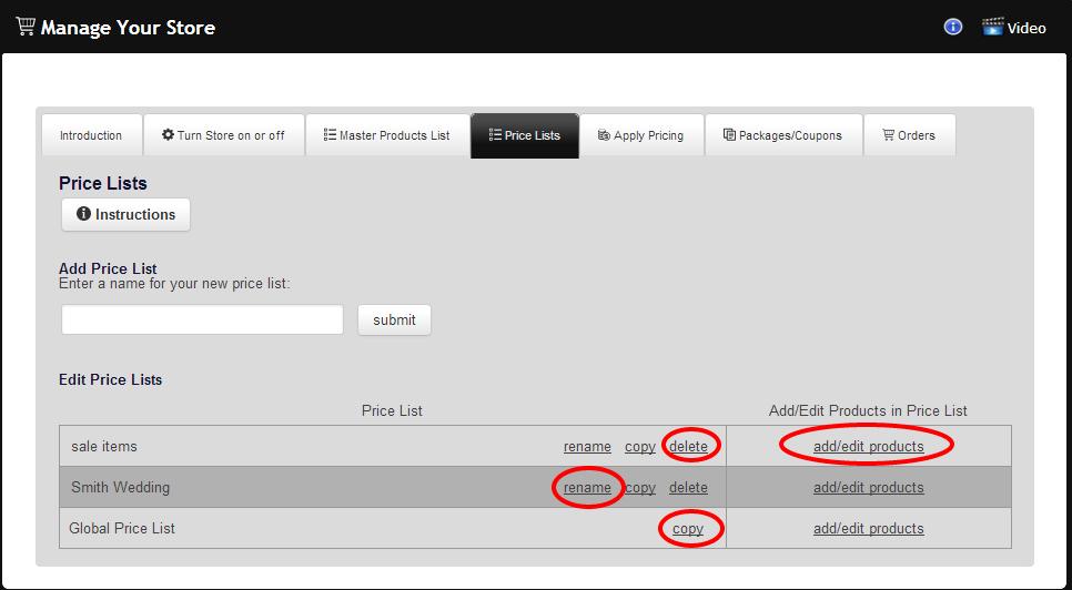 RedFrame Admin prices2