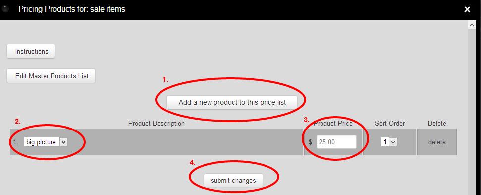 RedFrame Admin prices3