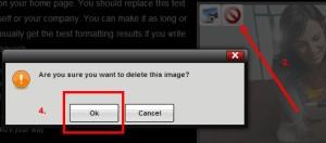 delete page image