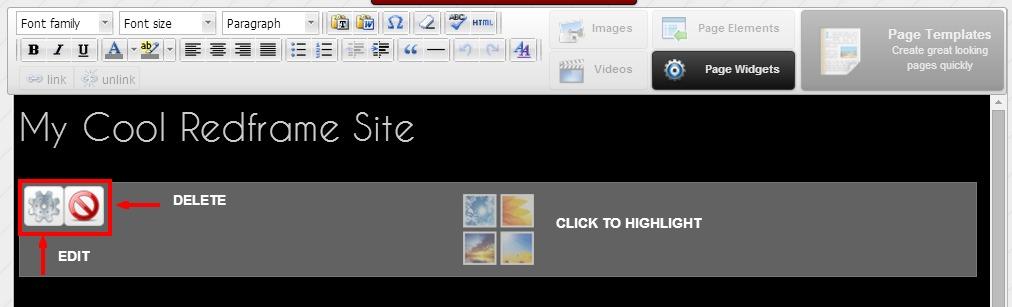 edit-delete widget