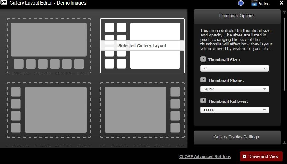 gallery layout customizations
