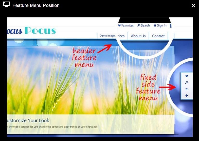 feature menu position