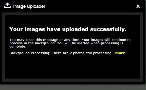 uploader success